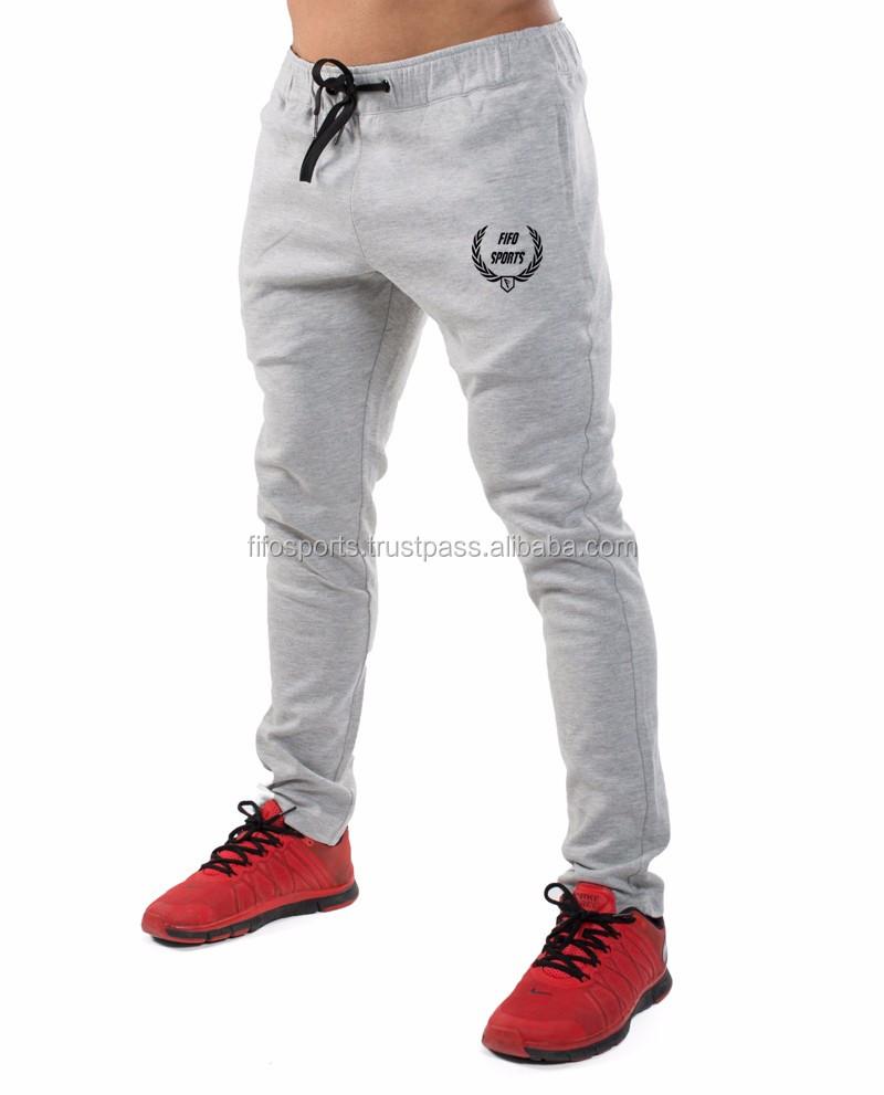 92f319f69 Cotton Fleece Jogger Pants/ Fitness Gym Sweatpants/ Mens Slim Joggers  Sports Training Sweat Pants