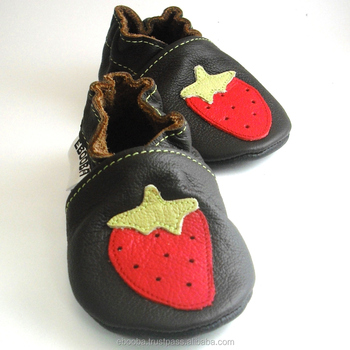 14e9b22da8822 Strawberry Baby Shoes,Leather Baby Shoes,Baby Girl Booties,Girls',Infant  Slippers,Soft Sole - Buy Strawberry Red On Dark-brown,Kids' Shoes Leather  ...