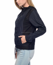Custom Vrouwen Mode 100% Polyester Windjack Reflecterende Winter Jassen