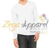 Zega Apparel 2016 retail comfortable long sleeve v-neck women t shirt market size