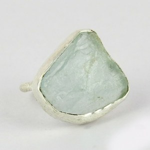 Excellent !! Blue Aquamarine Sterling Silver Ring-Size 4.5 US, 925 Silver Ring For Beautiful Fingers