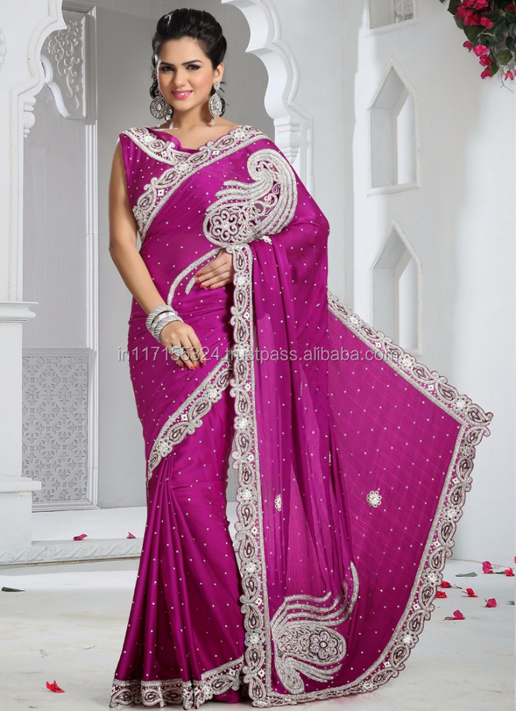 8ad92ba931708d Purple Stylish Lehenga Style Saree - Heavy Satin Bridal Stone Work Lehenga  Saree - Latest Hand Work Lehenga Saree - Buy Purple Stylish Lehenga Style  Saree ...
