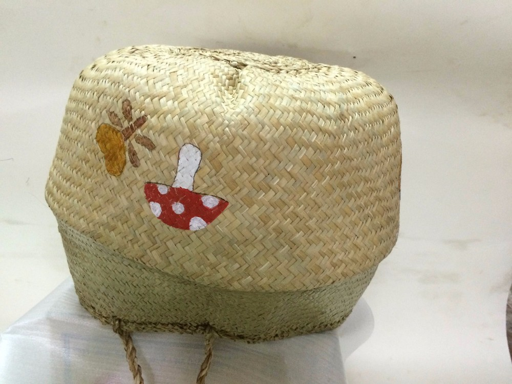 Best Selling Natural Seagrass Belly Basket Handmade With Painted ...