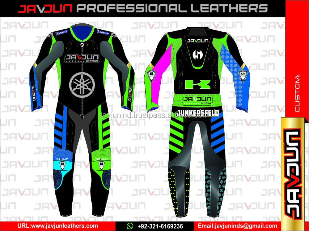 Customized Certified Motorcycle Leather Racing Suits Motorbike track racing suit