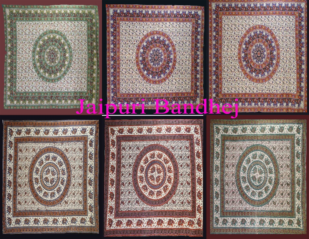 Wholesale Lot Indian Printed Tapestries Cotton Beach Throw