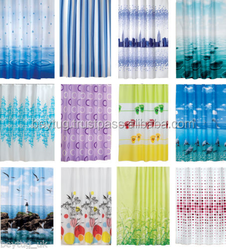 Made In Turkey WATERPROOF POLYESTER SHOWER CURTAIN