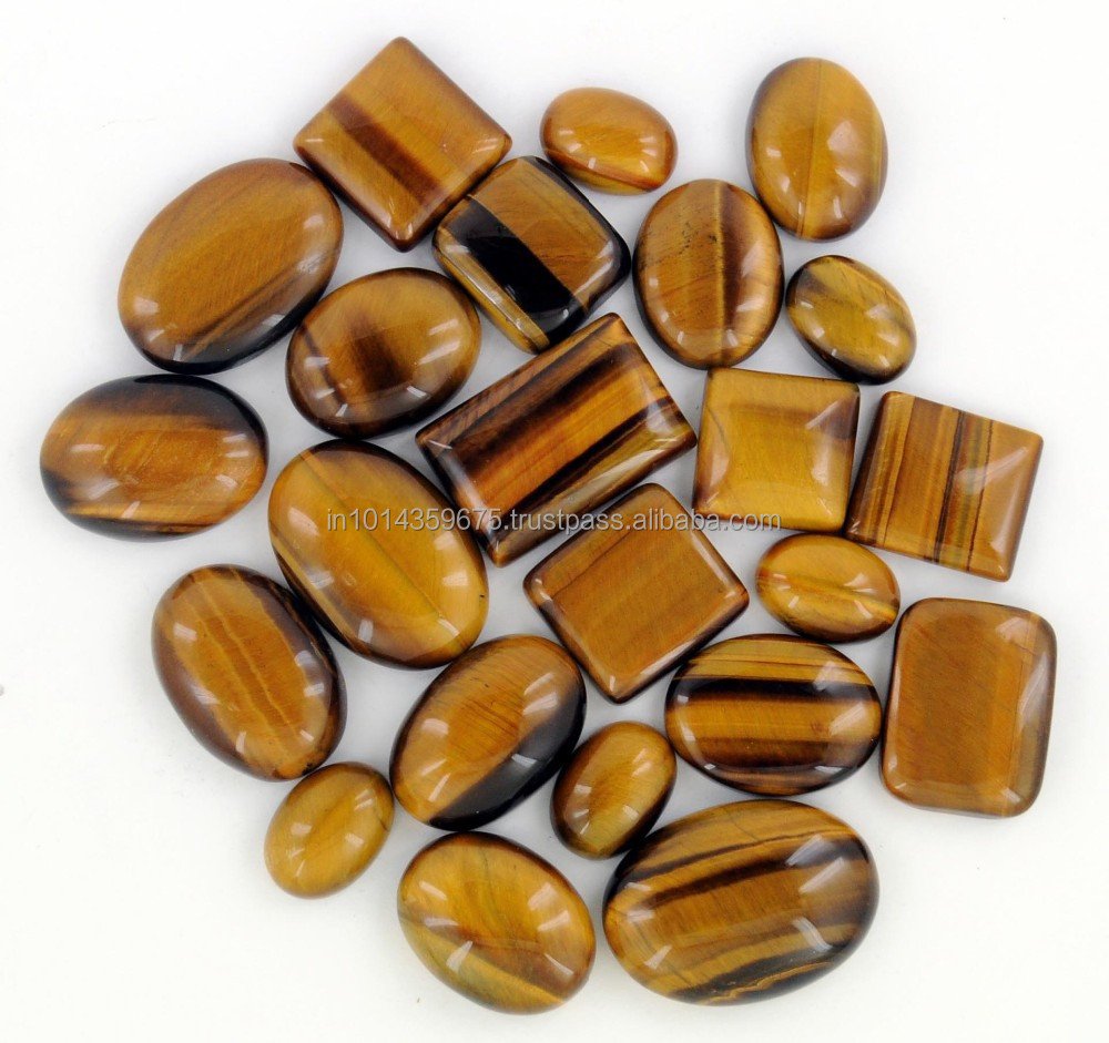 AAA Quality Natural Tiger Eye Cut Stone Mixed shape cut precious stones Gemstone