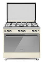 60x90 Semi professional free standing oven , gas cooker, Stainless steel oven