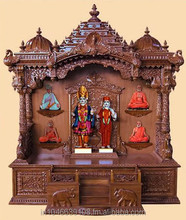 Wooden Pooja mandir temple design for Home