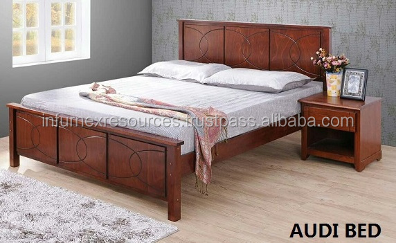 bed, wooden bed, malaysia bed, solid rubber wood furniture, bedroom  furniture
