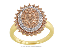 10KT Yellow Gold 1.00 Ctw Round Cut Natural Diamond Fashion Ring By KP Sanghvi
