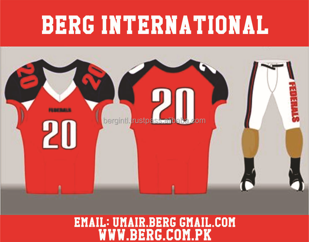54225622aaf Best 2016 customized sublimation American football jerseys uniforms/At Berg