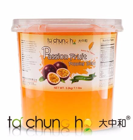 Wholesale Taiwan 3kg TachunGho Passion Fruit Popping Boba