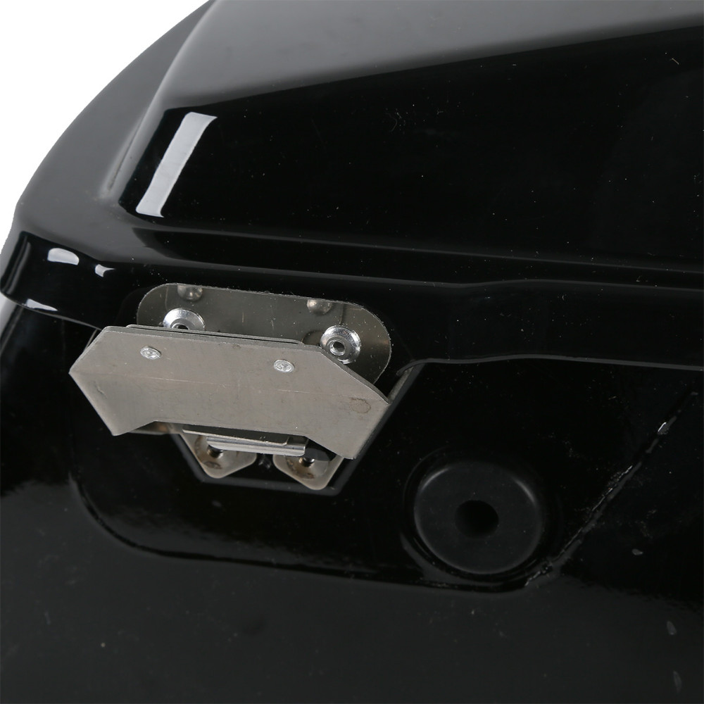 "5"" Vivid Black Stretched Extended Hard Saddlebags For Road King 1993-2013"