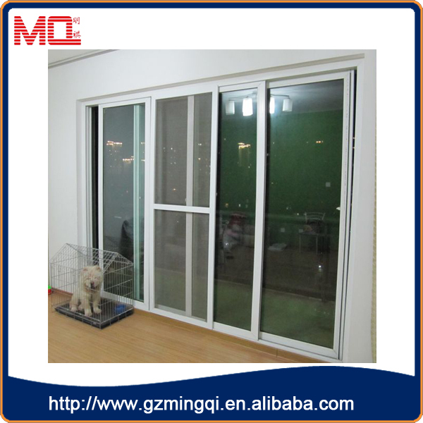 UPVC Modern Sliding Door With Mosquito Net And Multipoint Lock System