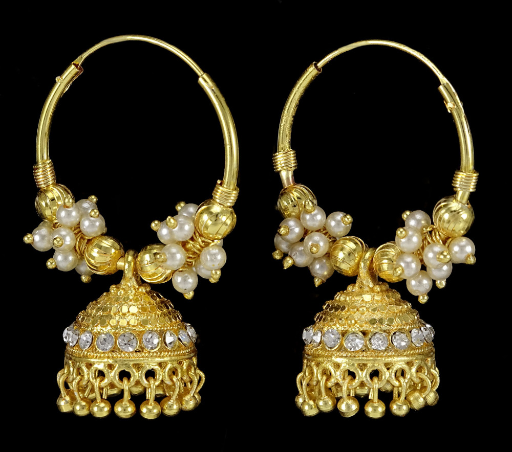 Traditional Indian Goldtone Bollywood Jhumka Earrings Beautiful ...