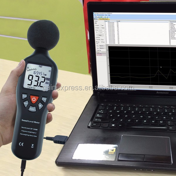 High Accuracy Measuring 30dB-130dB with Data Record Function Sound Level Meter with Backlit Display Compact Professional