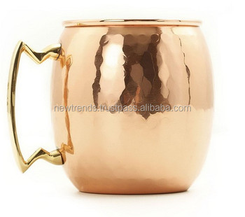 16 oz Old Dutch Solid Copper Hammered Moscow Mule Mug