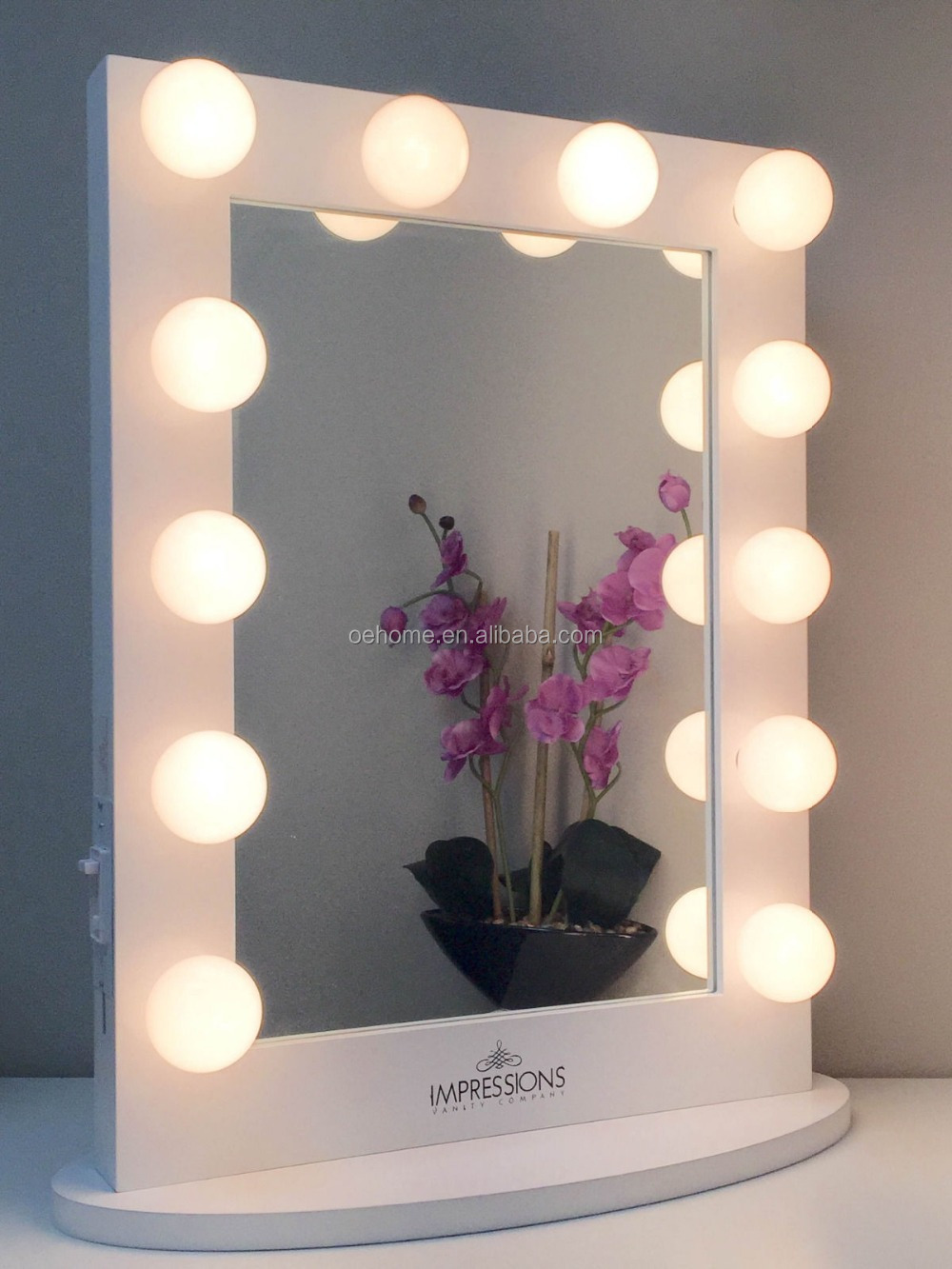 Vanity table with lighted mirror makeup mirror buy for Miroir led ikea