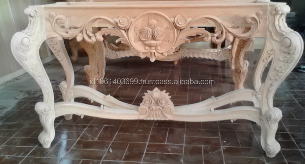 Hand Carving Wooden Console,french Style Console Table,wood Carving  Console,western Style