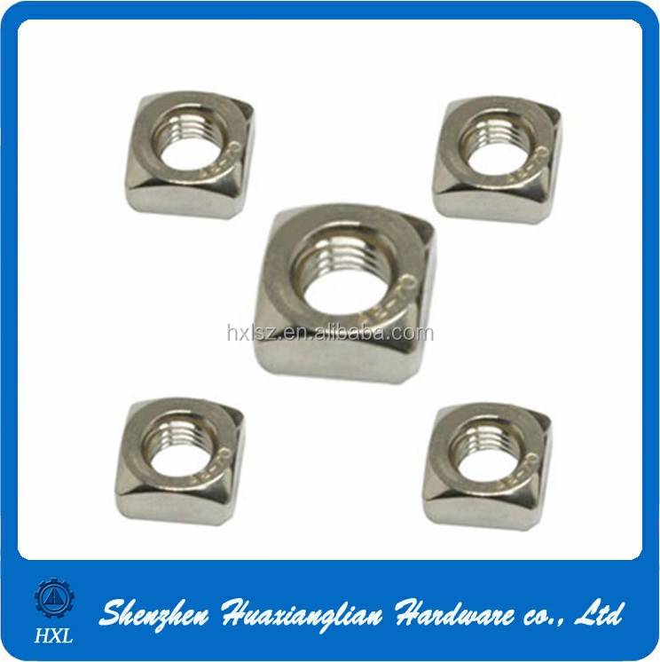 Stainless Steel Din 557 M6 M8 M20 Square Nut With Good Material ...