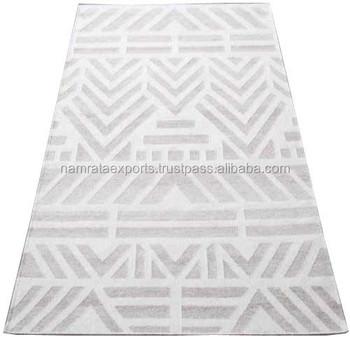 Hand Woven Flat Weave Wool Viscose Rugs