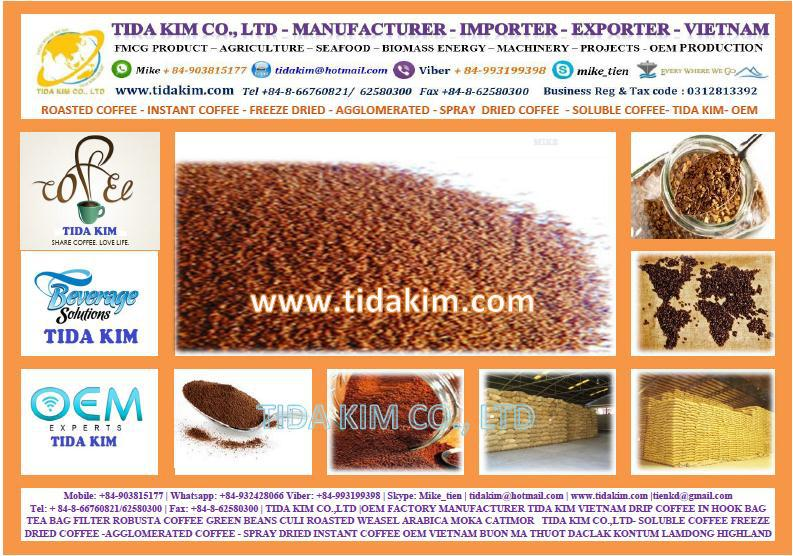 Manufacturer Freeze Dried Instant Coffee 100% - Oem Branded Name ...