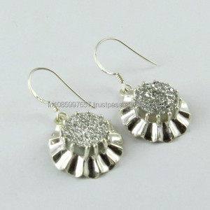Elegant White Druzy !! 925 Wholesale Silver Jewellery in Online