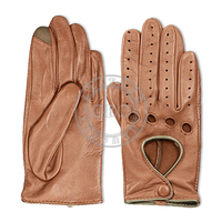 Men Leather Car Driving Gloves