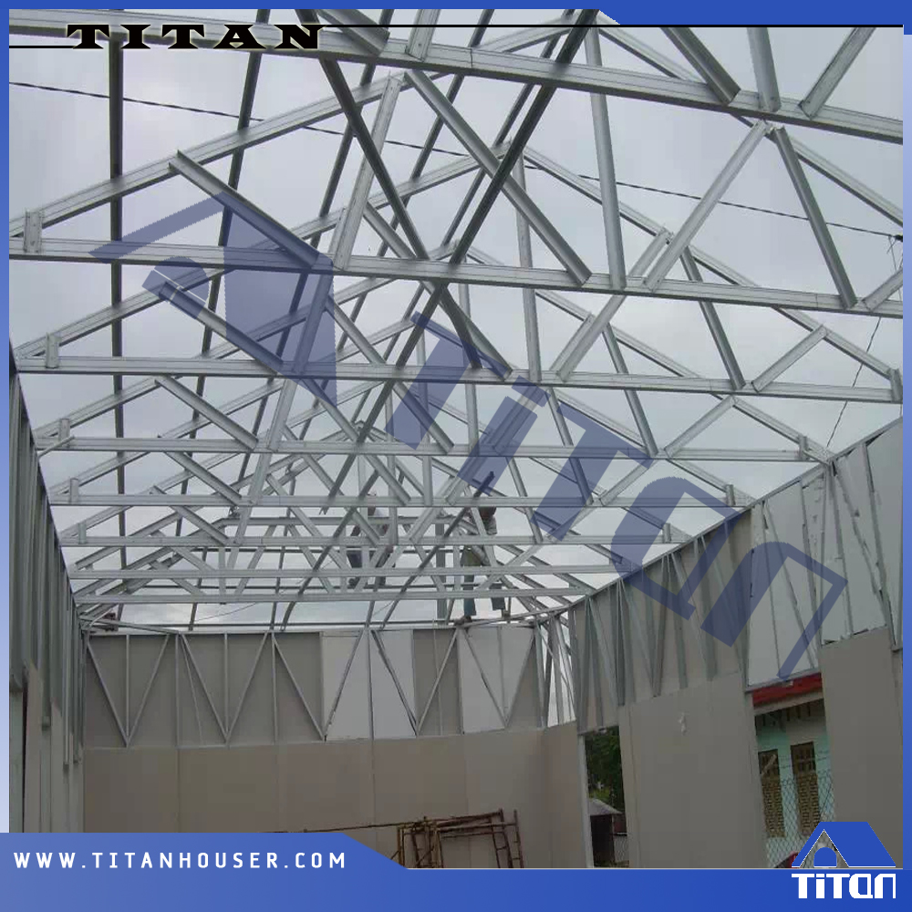 Low Cost Flat Roof Truss Structure For Buildings View