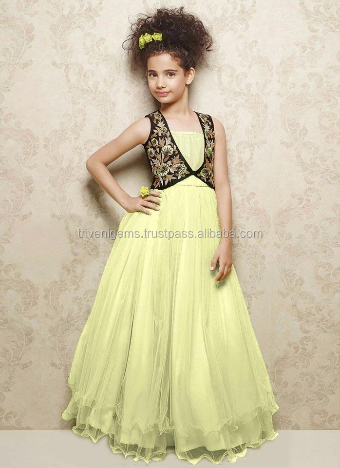 Latest Children Frocks Design Dresses Readymade Kids Gown Age Group 8 Western