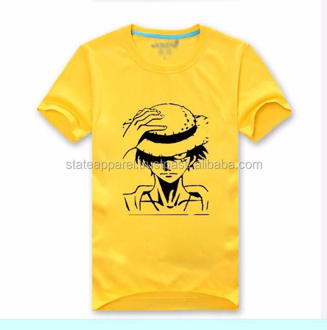 Hip hop high quality screen printing t shirt men