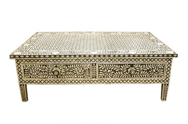 Moroccan Low Floor Design Bone Inlay Coffee Table Product On Alibaba