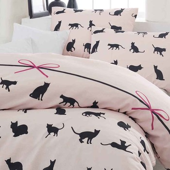 Bed Linen Set Single Cats Powder   Buy Bed Line,Linens,Home