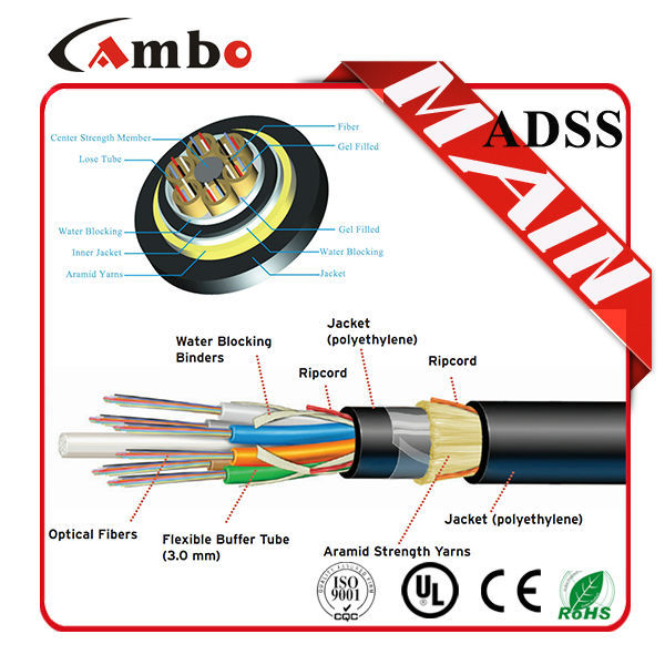 High Quality Sm 48 Core Single Mode Fiber Optic Cable And