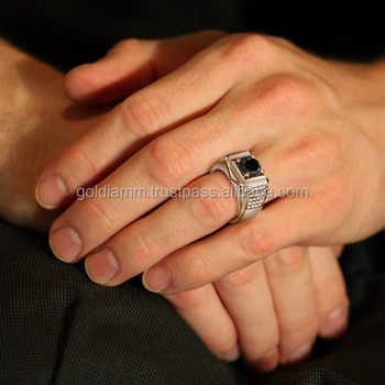 product carat men made detail fine wedding rings december diamond black hot sale man jewelry ring