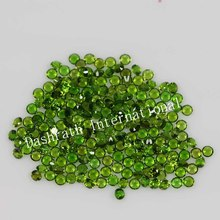 Natural Chrome Diopside 5mm Faceted Cut Round Calibrated Size Green Color Semi Precious Loose Gemstone Wholesale Lot