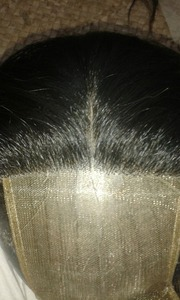 Natural Human hair lace closures with raw temple hair from south india