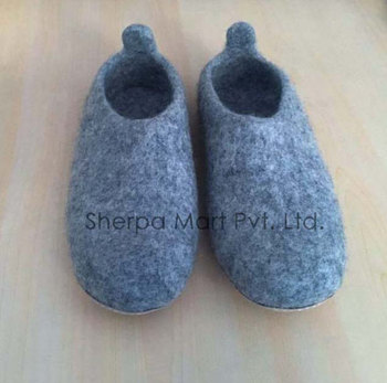 Wool Slippers from Nepal Felted Large
