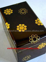 34100216 newest natural wooden jewelry box unique lacquer jewellery gift packaging box made in Vietnam