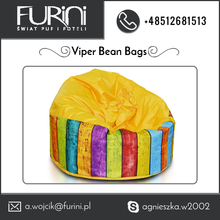 Modern, De-Lux Material Use Viper Bean Bag Chairs for Outdoor Use