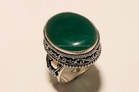 Wholesale price of 92.5 sterling silver jewellery with Green Onyx handmade Beautiful vintage ring
