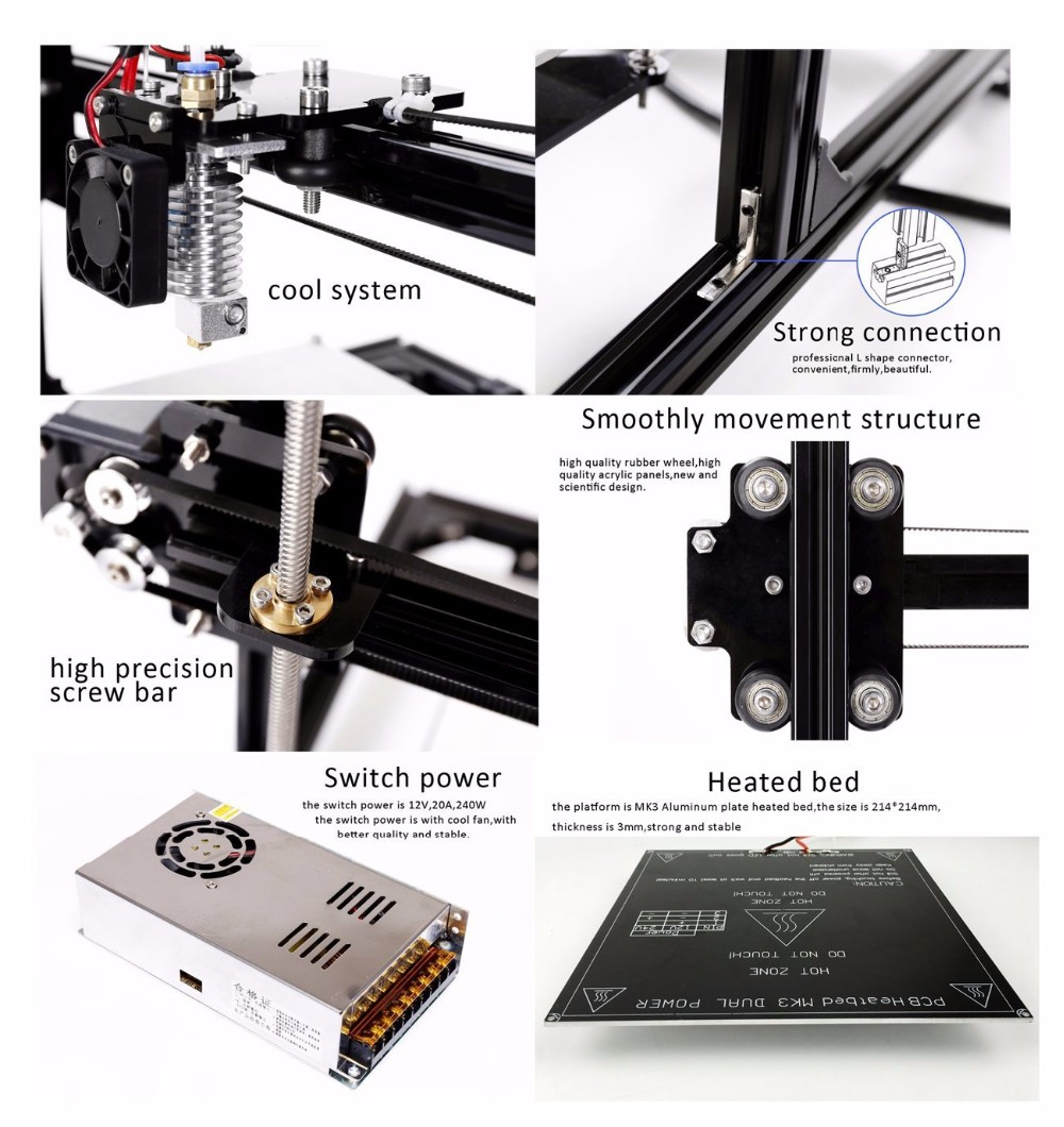 China Factory industrial Anet PLA ABS filament 3D printing extruder prusa i3 3d printer