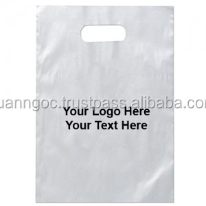 Clear Plastic Shopping Bags Logo Printing Die Cut Bag With Handle ...