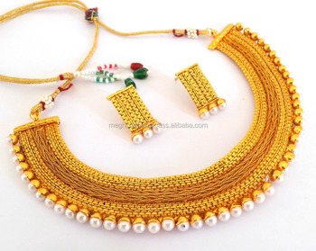indian one gram gold plated pearl jewellery south indian wedding