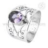 Glittering Purple Amethyst Jewelry 925 Sterling Silver Ring Hot Design Jaipur Silver Jewelry Wholesale