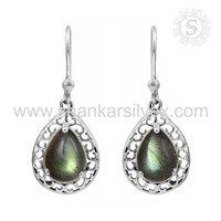 Uniqueness Jewelry Labradorite Earring Handmade Silver Jewelry 925 Sterling Silver Earring