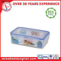 Flip up kitchen organised/plastic food storage container easy to lock airtight-Sina Food cont. 601 (500ml)-L601