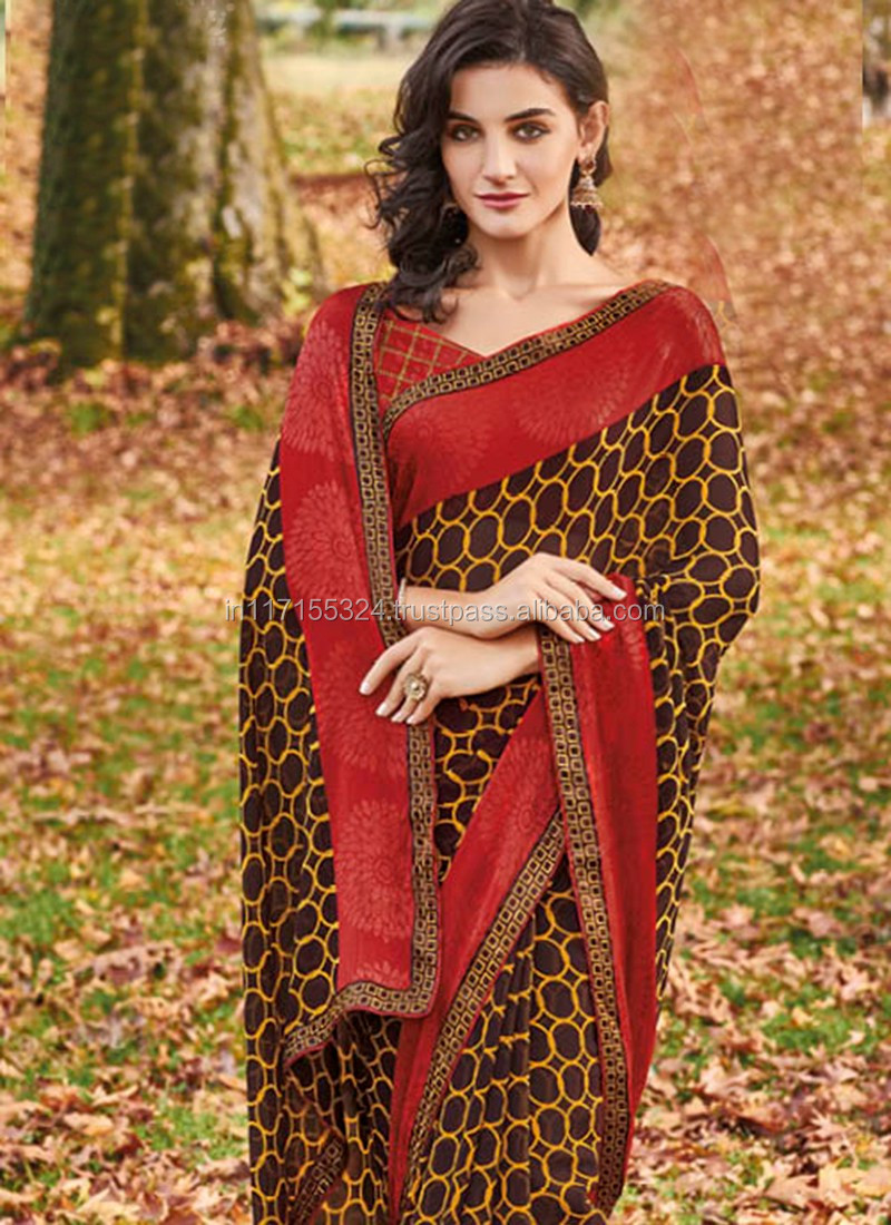 f963b8cd1ba Indian latest beautiful designer party wear sarees - Online shopping of  latest saree collection - Formal saree blouse designs