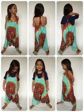 Boy/girl tie dye dungaree